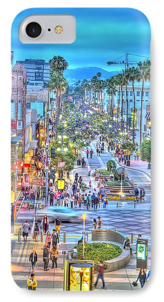 Third Street Promenade IPhone Case by Chuck Staley