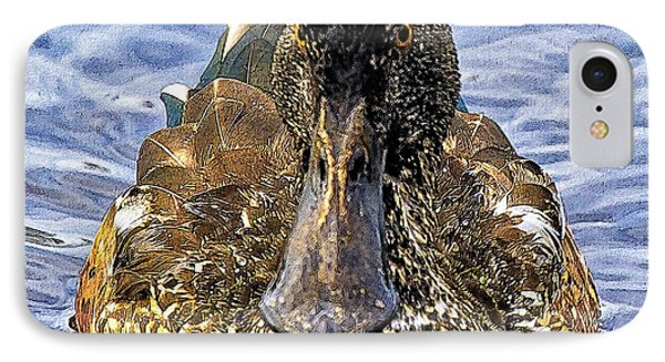 This Bill Is Made For Shoveling  Northern Shoveler IPhone Case by Constantine Gregory
