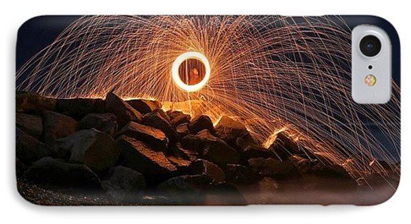 iPhone 7 Case - This Is A Shot Of Me Spinning Burning by Larry Marshall