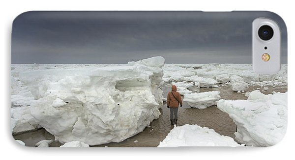 This Is How Thick Ice In Wellfleet Cape Cod IPhone Case