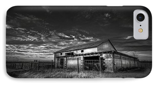 This Old Barn-b/w IPhone Case by Marvin Spates