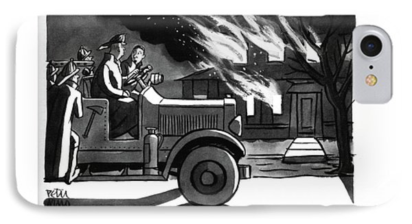 This Place Certainly ?ts The Description IPhone Case by Peter Arno