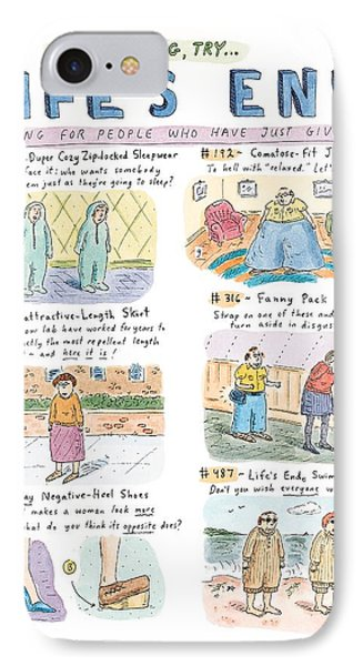 This Spring Try Life's End:  'clothing For People IPhone Case by Roz Chast