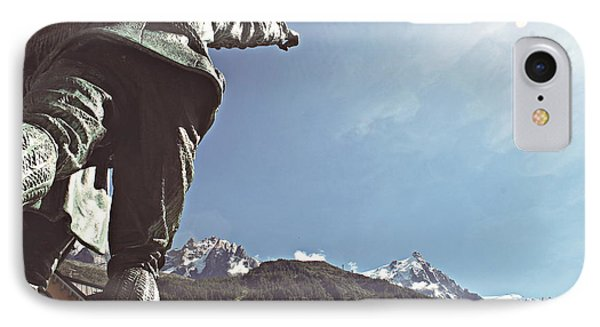 IPhone Case featuring the photograph This Way To The Aiguille Du Midi by Cendrine Marrouat