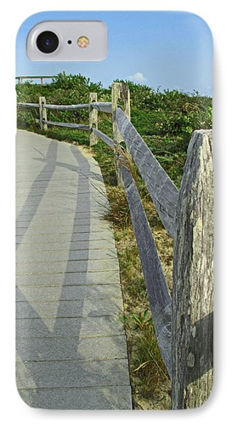 This Way To The Beach Phone Case by Barbara McDevitt