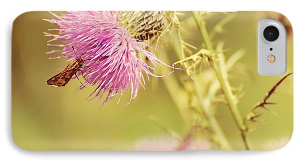 Thistle And Friend Phone Case by Lois Bryan