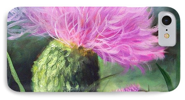IPhone Case featuring the painting Thistle by Cheri Wollenberg