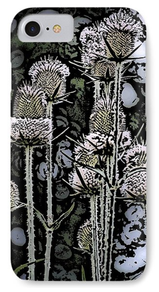 IPhone Case featuring the digital art Thistle  by David Lane