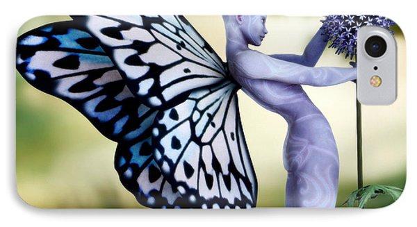 IPhone Case featuring the digital art Thistle Fairy by Sandra Bauser Digital Art