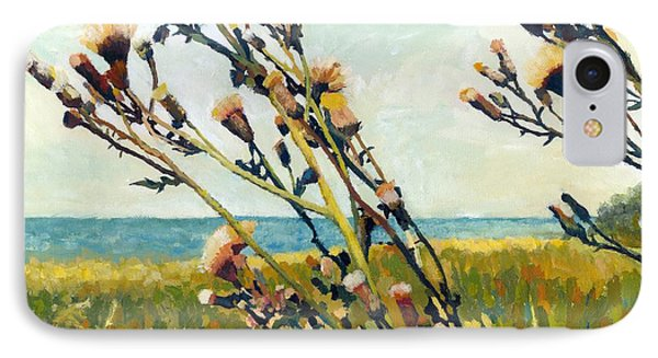 Thistles On The Beach - Oil Phone Case by Michelle Calkins