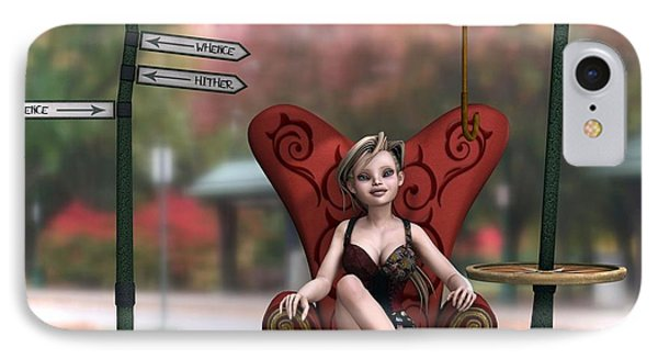 IPhone Case featuring the digital art Thither And Yon by Sandra Bauser Digital Art