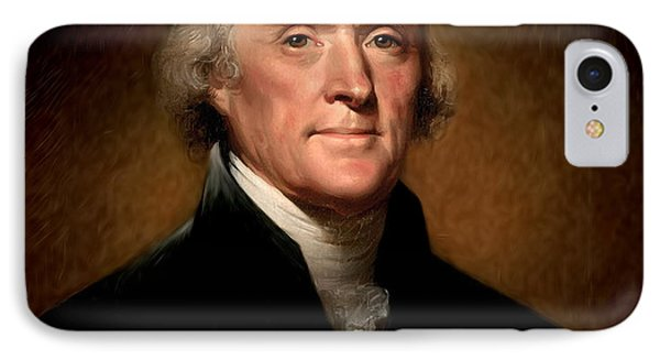 Thomas Jefferson By Rembrandt Peale Phone Case by Bill Cannon