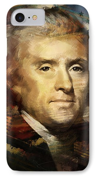 Thomas Jefferson IPhone Case by Corporate Art Task Force