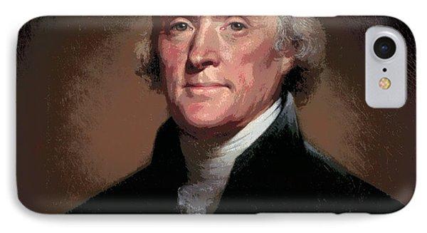 Thomas Jefferson Freedom IPhone Case by Daniel Hagerman