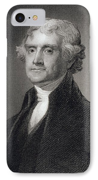 Thomas Jefferson IPhone 7 Case by Gilbert Stuart