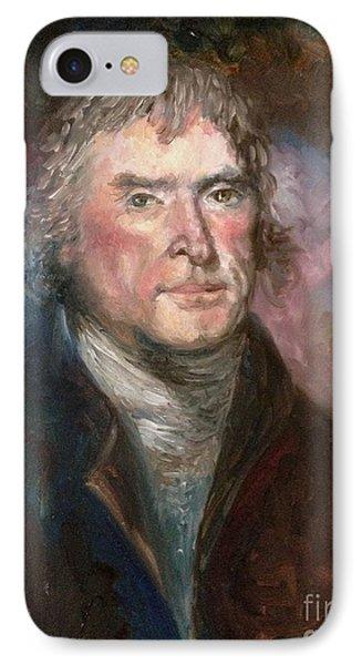Thomas Jefferson Phone Case by Irene Pomirchy