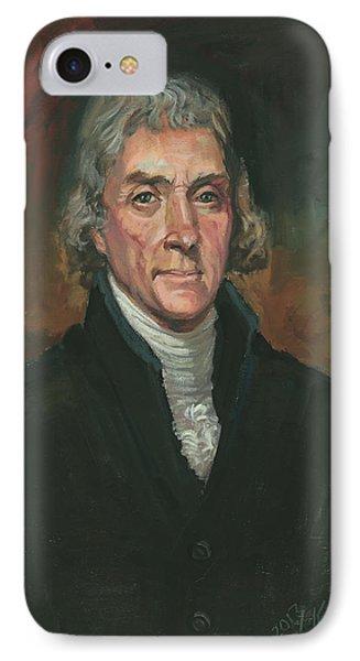 Thomas Jefferson Phone Case by Kaziah Hancock