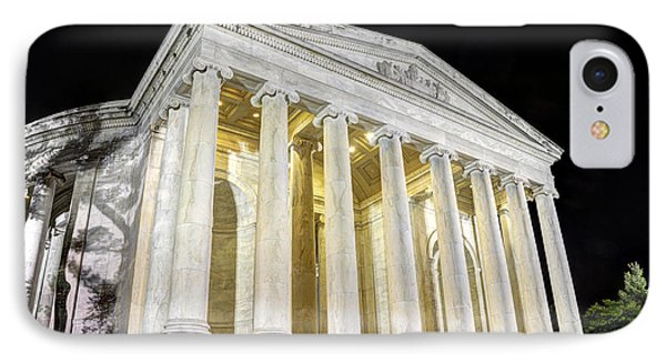 Thomas Jefferson Memorial At Night  IPhone Case by Gary Whitton