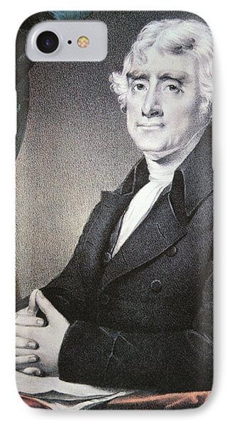 Thomas Jefferson IPhone Case by Nathaniel Currier
