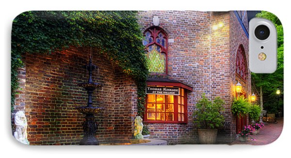 Thomas Kinkade At The Village In Gatlinburg IPhone Case by Greg and Chrystal Mimbs