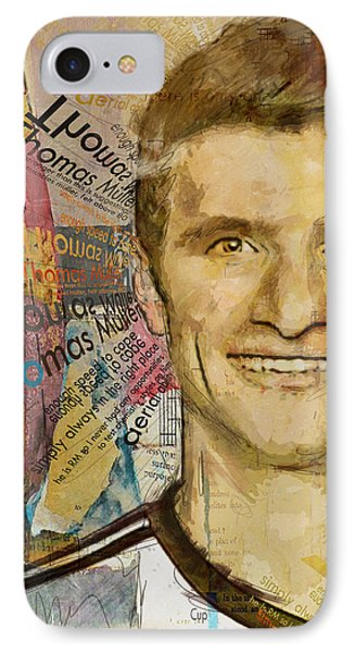 Thomas Muller IPhone Case by Corporate Art Task Force