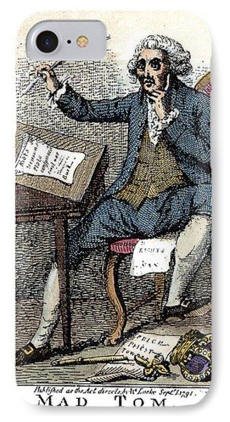 Thomas Paine Cartoon, 1791 IPhone Case