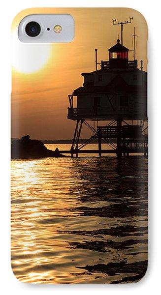 Thomas Point Lighthouse IPhone Case by Jennifer Casey
