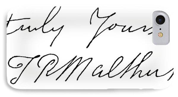 Thomas Robert Malthus (1766-1834) IPhone Case by Granger