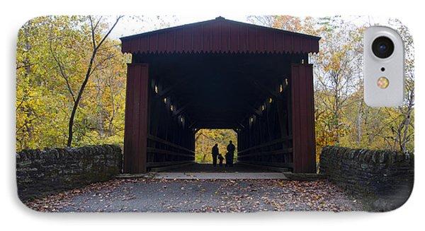 Thomas's Covered Bridge - Family Walk IPhone Case