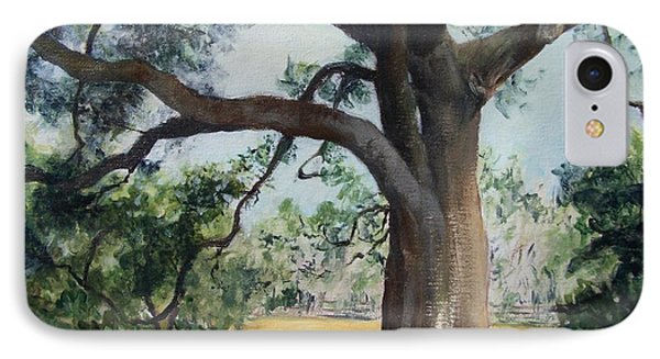 Thomasville Oak IPhone Case by Mary Lynne Powers