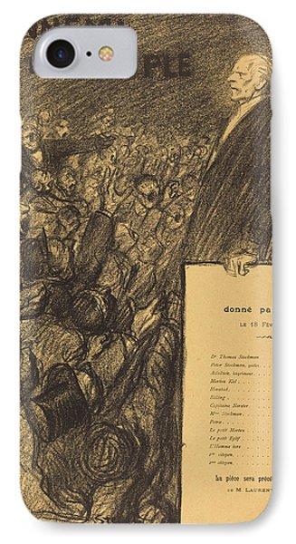 Théophile Alexandre Steinlen Swiss, 1859 - 1923 IPhone Case by Quint Lox