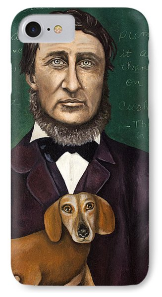Thoreau With Louis Le Bref IPhone Case by Leah Saulnier The Painting Maniac