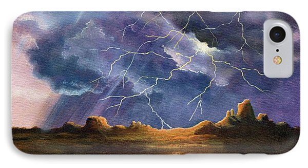 Thor's Fury IPhone Case by Marilyn Smith