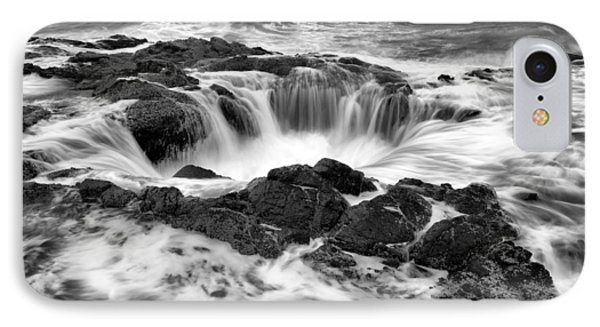 Thor's Well Monochrome IPhone Case by Robert Bynum