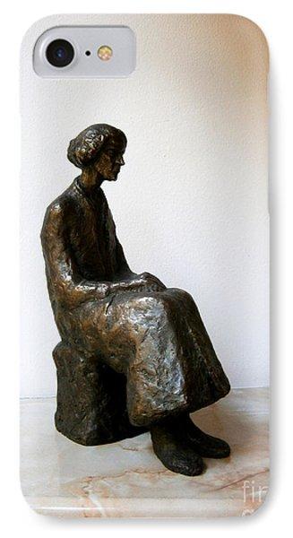 Thoughtful Woman Phone Case by Nikola Litchkov