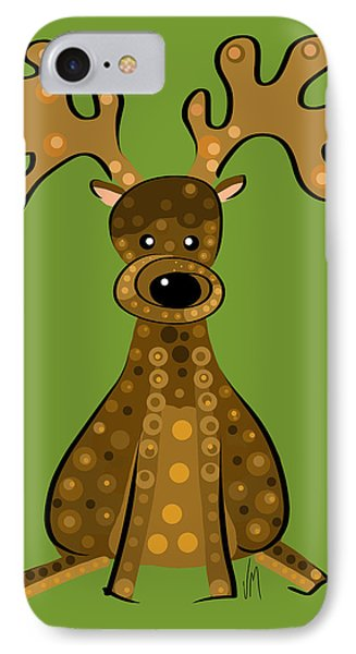 Thoughts And Colors Series Reindeer IPhone Case
