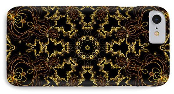 IPhone Case featuring the digital art Threads Of Gold And Plaits Of Silver by Owlspook