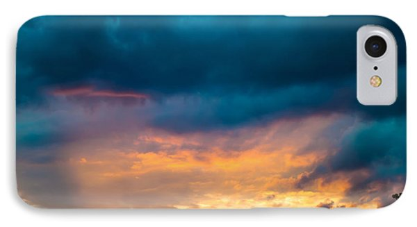 Threatening Skies At Sunset Phone Case by Optical Playground By MP Ray