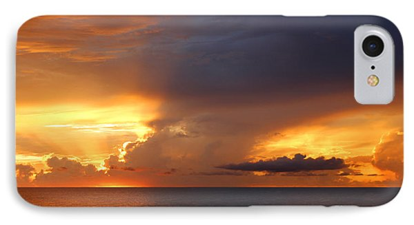 Threatening Sunset IPhone Case by Mariarosa Rockefeller
