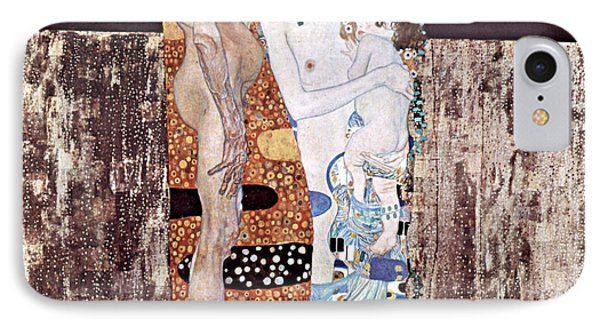 Three Ages Of Woman IPhone Case by Gustive Klimt