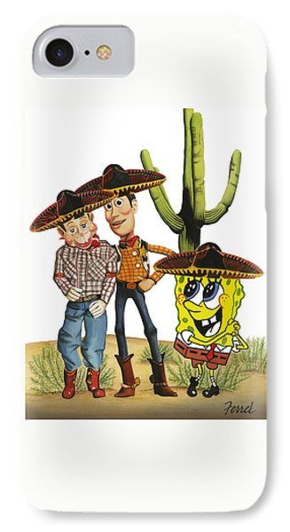 IPhone Case featuring the painting Three Amigos by Ferrel Cordle