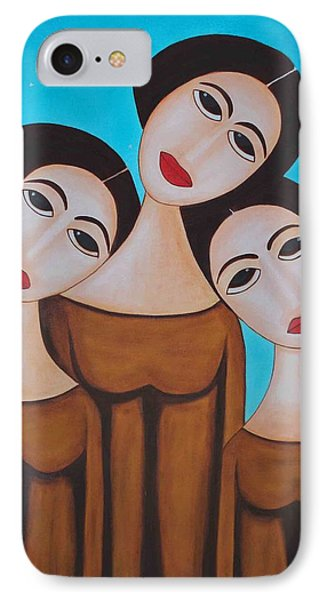 Three Angels Phone Case by Sonali Kukreja