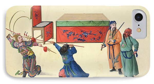 Three Battles Against Lu Pu IPhone Case by British Library