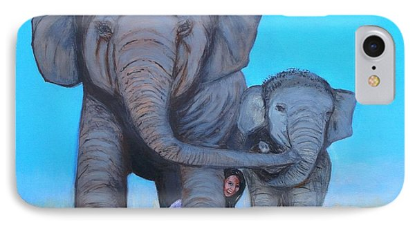 Three Beauties IPhone Case by Donna Dixon
