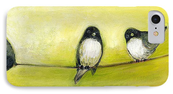 Three Birds On A Wire No 2 Phone Case by Jennifer Lommers