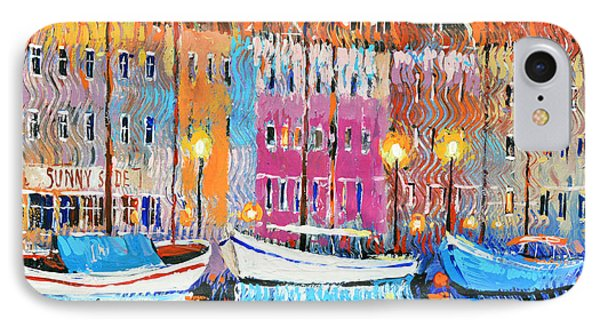 IPhone Case featuring the painting Three Boats by Dmitry Spiros