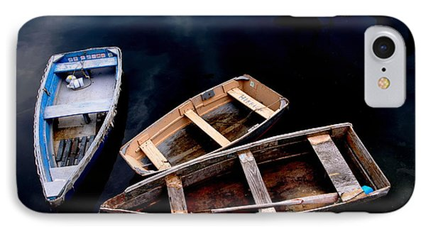 IPhone Case featuring the photograph Three Boats In Rockport Mass by Jacqueline M Lewis