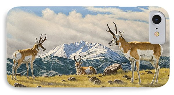 Three Bucks On The Ridge IPhone Case by Paul Krapf