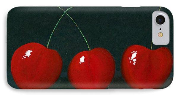 Three Cherries IPhone Case by Karyn Robinson