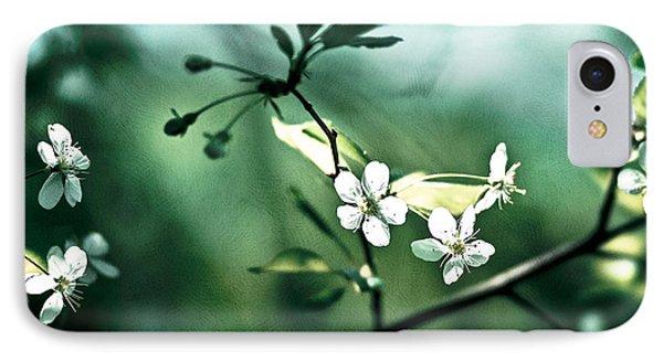 Three Cherry Flowers - Featured 3 Phone Case by Alexander Senin